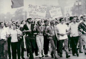 Demonstration für Deserteure in West-Berlin 1969